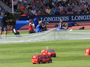 Loved the wee remote controlled cars used to return the discus